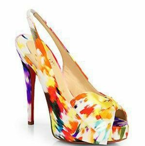 Christian Louboutin Vendome Satin Slingback Pumps